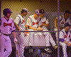 Cortland Crush players in the Dug Out on Greg's Field at Beaudry Park in Cortland, New York on Wednesday, July 6, 2016. Cortland won 7-2.