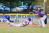 Cortland Crush TJ Wegmann (26) dives back to First Base before Rome Generals Dean Rosenberg (24) receives the ball on Greg's Field at Beaudry Park in Cortland, New York on Wednesday, July 6, 2016. Cortland won 7-2.