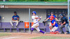 Cortland Crush David Murphy (8) hits the balla gainst the Rome Generals on Greg's Field at Beaudry Park in Cortland, New York on Wednesday, July 6, 2016. Cortland won 7-2.