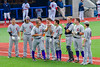 Cortland Crush Paul Ludden (10) being introduced before playing the Syracuse Salt Cats at OCC Turf Field in Syracuse, New York on Friday, July 8, 2016.