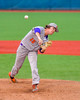 Cortland Crush Shae Edmonds (15) pitching against the Syracuse Salt Cats at OCC Turf Field in Syracuse, New York on Friday, July 8, 2016. Cortland won 10-4.
