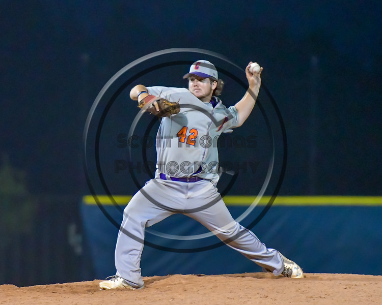 Cortland Crush Clayton Jeffries (42) on the mound against the Syracuse Salt Cats at OCC Turf Field in Syracuse, New York on Friday, July 8, 2016. Cortland won 10-4.