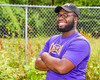 Cortland Crush Event Coordinator Quaine Joseph on Greg's Field at Beaudry Park in Cortland, New York on Wednesday, July 16, 2016.