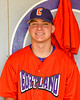 Cortland Crush player in the dugout on Greg's Field at Beaudry Park in Cortland, New York on Wednesday, July 16, 2016.