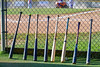 Cortland Crush bats lined up to do battle with the Syracuse Junior Chiefs on Greg's Field in the NYCBL Eastern Division playoffs at Beaudry Park in Cortland, New York on Thursday, July 27, 2016.