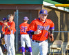 Cortland Crush Derek Martin (29) being introduced before playing the Syracuse Junior Chiefs on Greg's Field in the NYCBL Eastern Division playoffs at Beaudry Park in Cortland, New York on Thursday, July 27, 2016.