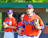 Cortland Crush Stephan Witkowski (17) being introduced before playing the Syracuse Junior Chiefs on Greg's Field in the NYCBL Eastern Division playoffs at Beaudry Park in Cortland, New York on Thursday, July 27, 2016.