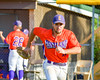 Cortland Crush Paul Ludden (10) being introduced before playing the Syracuse Junior Chiefs on Greg's Field in the NYCBL Eastern Division playoffs at Beaudry Park in Cortland, New York on Thursday, July 27, 2016.