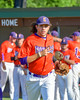 Cortland Crush Luke Gilbert (5) being introduced before playing the Syracuse Junior Chiefs on Greg's Field in the NYCBL Eastern Division playoffs at Beaudry Park in Cortland, New York on Thursday, July 27, 2016.