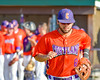 Cortland Crush David Murphy (8) being introduced before playing the Syracuse Junior Chiefs on Greg's Field in the NYCBL Eastern Division playoffs at Beaudry Park in Cortland, New York on Thursday, July 27, 2016.