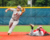 Cortland Crush Greg Mula (1) playing Second Base against the Syracuse Junior Chiefs at OCC Turf Field in the NYCBL Eastern Division playoffs in Syracuse, New York on Thursday, July 28, 2016. Syracuse won 4-3.