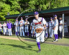 Cortland Crush Tyler Ault (1) being introduced before playing the Genesee Rapids on Greg's Field at Beaudry Park in Cortland, New York on Friday, June 2, 2017.