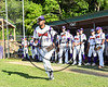 Cortland Crush David White (31) being introduced before playing the Genesee Rapids on Greg's Field at Beaudry Park in Cortland, New York on Friday, June 2, 2017.