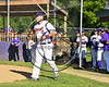 Cortland Crush Kyle Bouchard (32) being introduced before playing the Genesee Rapids on Greg's Field at Beaudry Park in Cortland, New York on Friday, June 2, 2017.