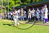 Cortland Crush Charles Edwards (24) being introduced before playing the Genesee Rapids on Greg's Field at Beaudry Park in Cortland, New York on Friday, June 2, 2017.