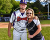 Ms. Brooke Fullmer of College Suites Cortland poses with Cortland Crush TJ Wegmann (10) after throwing the First Pitch to open the season on Greg's Field at Beaudry Park in Cortland, New York on Friday, June 2, 2017.