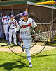 Cortland Crush Armando Valentin (7) being introduced before playing the Syracuse Spartans on Greg's Field at Beaudry Park in Cortland, New York on Saturday, June 3, 2017.