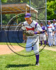 Cortland Crush Joe Assenza (2) being introduced before playing the Syracuse Spartans on Greg's Field at Beaudry Park in Cortland, New York on Saturday, June 3, 2017.