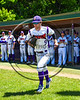 Cortland Crush Joseph Rogers (9) being introduced before playing the Syracuse Spartans on Greg's Field at Beaudry Park in Cortland, New York on Saturday, June 3, 2017.