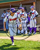 Cortland Crush Dylan Ott (4) being introduced before playing the Syracuse Spartans on Greg's Field at Beaudry Park in Cortland, New York on Saturday, June 3, 2017.