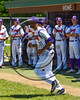 Cortland Crush David White (31) being introduced before playing the Syracuse Spartans on Greg's Field at Beaudry Park in Cortland, New York on Saturday, June 3, 2017.