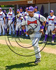 Cortland Crush Kyle Bouchard (32) being introduced before playing the Syracuse Spartans on Greg's Field at Beaudry Park in Cortland, New York on Saturday, June 3, 2017.