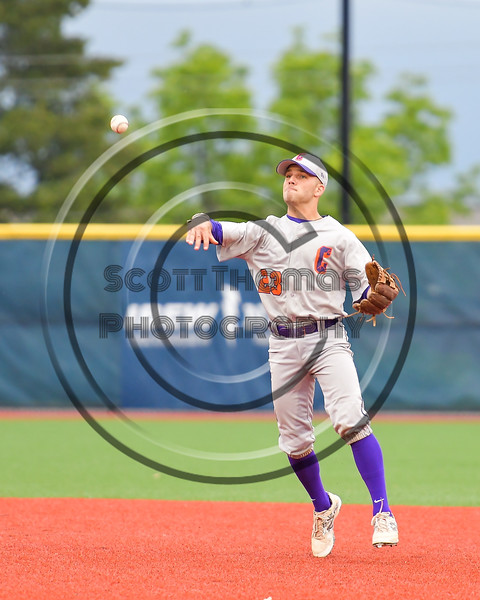 Cortland Crush Josh Reuter (23) throwing the ball against the Syracuse Salt Cats at OCC Turf Field in Syracuse, New York on Monday, June 5, 2017.