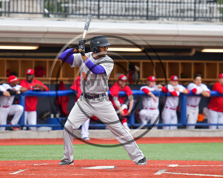 Cortland Crush David White (31) at bat against the Syracuse Salt Cats at OCC Turf Field in Syracuse, New York on Monday, June 5, 2017.