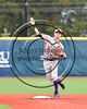 Cortland Crush Tyler Ault (1) throwing the ball against the Syracuse Salt Cats at OCC Turf Field in Syracuse, New York on Monday, June 5, 2017.