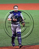 Cortland Crush Catcher Justin Valentino (26) walking back from the mound against the Syracuse Salt Cats at OCC Turf Field in Syracuse, New York on Monday, June 5, 2017.