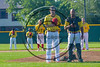 Syracuse Spartans players stand for the National Anthem at Dick Rockwell Field in Syracuse, New York on Sunday, June 11, 2017.