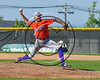 Cortland Crush Daniel Hayden (17) ptiching against the Syracuse Spartans at Dick Rockwell Field in Syracuse, New York on Sunday, June 11, 2017. Syracuse won 17-9.