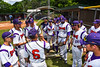 Cortland Crush Manager Bill McConnell talks with the team before playing the Syracuse Salt Cats on Greg's Field at Beaudry Park in Cortland, New York on Saturday, June 17, 2017.