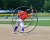 Cortland Crush Dylan Ott (4) starts a double play against the Sherrill Silversmiths on Greg's Field at Beaudry Park in Cortland, New York on Thursday, June 22, 2017. Cortland won 10-9.