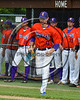 Cortland Crush Alex Flock (11) being introduced before playing the Sherrill Silversmiths on Greg's Field at Beaudry Park in Cortland, New York on Thursday, June 22, 2017.