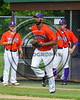 Cortland Crush David White (31) being introduced before playing the Sherrill Silversmiths on Greg's Field at Beaudry Park in Cortland, New York on Thursday, June 22, 2017.