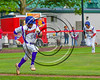 Cortland Crush Josh Reuter (23) runs to First Base after a  hit while Charles Edwards (24) runs Home against the Syracuse Salt Cats at Wallace Field on the SUNY Cortland campus in Cortland, New York on Thuesday, June 27, 2017. Syracuse won 4-3.