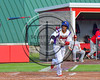 Cortland Crush Charles Edwards (24) tosses his bat after being walked by Syracuse Salt Cats Pitcher Maxwell Bain (32, not pictured) at Wallace Field on the SUNY Cortland campus in Cortland, New York on Thuesday, June 27, 2017. Syracuse won 4-3.