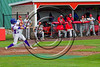 Cortland Crush Josh Reuter (23) hits the ball against the Syracuse Salt Cats at Wallace Field on the SUNY Cortland campus in Cortland, New York on Thuesday, June 27, 2017. Syracuse won 4-3.