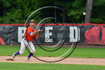 Cortland Crush Josh Reuter (23) throwing the ball against the Olean Oilers at Wallace Field on the SUNY Cortland campus in Cortland, New York on Thuesday, July 2, 2017. Cortland won 7-2.