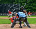 Cortland Crush catcher Joseph Tevlin (12) behind the plate against the Olean Oilers at Wallace Field on the SUNY Cortland campus in Cortland, New York on Thuesday, July 2, 2017. Cortland won ...