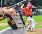 Cortland Crush Joseph Rogers (9) pitching against the Olean Oilers at Wallace Field on the SUNY Cortland campus in Cortland, New York on Thuesday, July 2, 2017. Cortland won 7-2.