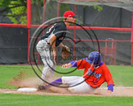 Cortland Crush Joseph Tevlin (12) slides into Thrid Base against the Olean Oilers at Wallace Field on the SUNY Cortland campus in Cortland, New York on Thuesday, July 2, 2017. Cortland won 7 ...