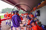 Cortland Crush players in the dugout during a rain delay in the game against the Olean Oilers at Wallace Field on the SUNY Cortland campus in Cortland, New York on Thuesday, July 2, 2017.