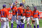Cortland Crush Joe Assenza (2) getting congratulated for scoring against the Olean Oilers at Wallace Field on the SUNY Cortland campus in Cortland, New York on Thuesday, July 2, 2017. Cortla ...