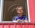 Cortland Crush Broadcaster Tim Scott at Wallace Field on the SUNY Cortland campus in Cortland, New York on Thuesday, July 2, 2017.