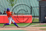 Cortland Crush Dylan Ott (4) hits the ball against the Olean Oilers at Wallace Field on the SUNY Cortland campus in Cortland, New York on Thuesday, July 2, 2017. Cortland won 7-2.