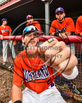 Cortland Crush Jimmy Murray (5) between innings during a game against the Olean Oilers at Wallace Field on the SUNY Cortland campus in Cortland, New York on Thuesday, July 2, 2017.