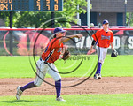 Cortland Crush Dylan Ott (4) throwing the ball against the Olean Oilers at Wallace Field on the SUNY Cortland campus in Cortland, New York on Thuesday, July 2, 2017. Cortland won 7-2.