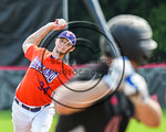 Cortland Crush Avery Eddy (34) pitching against the Olean Oilers at Wallace Field on the SUNY Cortland campus in Cortland, New York on Thuesday, July 2, 2017. Cortland won 7-2.